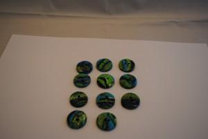 11 stuks 25 mm bol relief € 1.50 C (Medium)