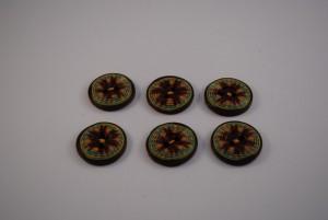 6 stuks 25 mm € 1.50 H ps (Medium)