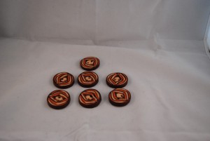 7 stuks 30mm € 2.50 (Medium)